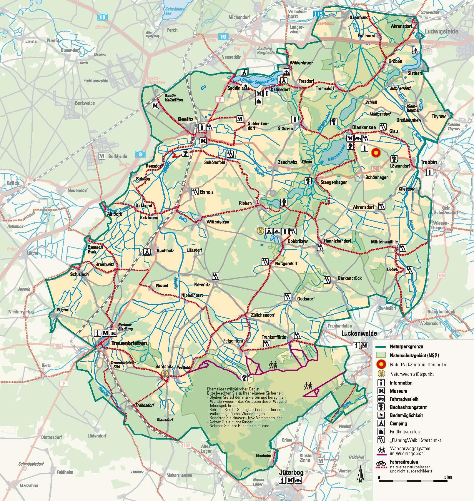 Naturpark Nuthe-Nieplitz Übersicht